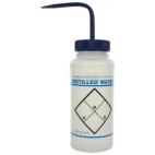 "Wash Bottle, LDPE, 500ml, ""Distilled Water"""