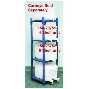 Stackrack System For Carboys, 5-shelf, Blue