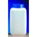 Bottle, Rectangular, 1000ml, Wide Mouth, HDPE