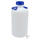 Carboy, 20L, Food Grade, HDPE, Nm, w/Spigot & O-ring