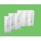 Petri Dish Rack, Single Row, Pvc Side/acrylic Front
