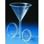 Filter Funnel, 76ml, High-Speed Ribbed, Clear PMP