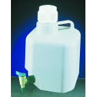 Carboy with Spigot, 10L, Corner Storage, PP